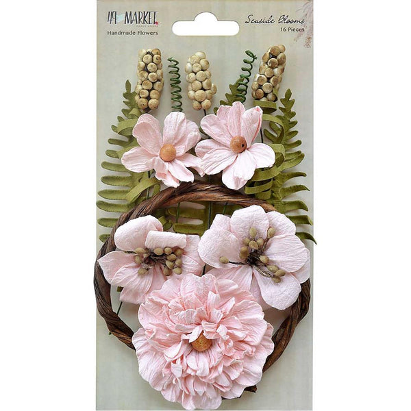 "49 & Market, Seaside Blooms 1.5""-2.25"" 16/Pkg - Scrapbooking Fairies"