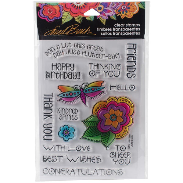 Stampendous, Laurel Burch, Floral Greetings, Clear Stamps