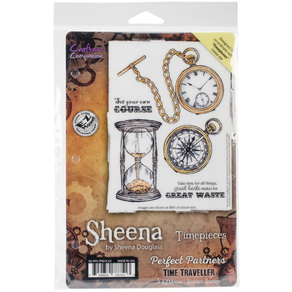 Crafter's Companion, Sheena Douglass Perfect Partners Time Traveler Stamps, Timepieces - Scrapbooking Fairies