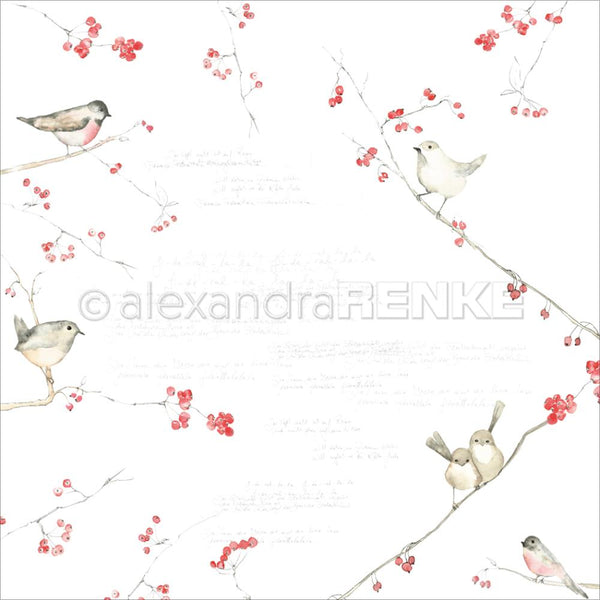 "Alexandra Renke Autumn Design Paper 12""X12"", Birds & Berries"