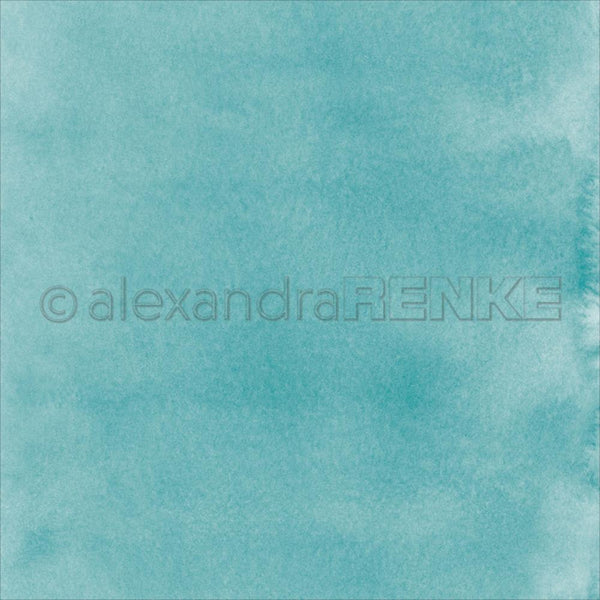 "Alexandra Renke Travel Design Paper 12""X12"", Mimi's Watercolor Turquoise"