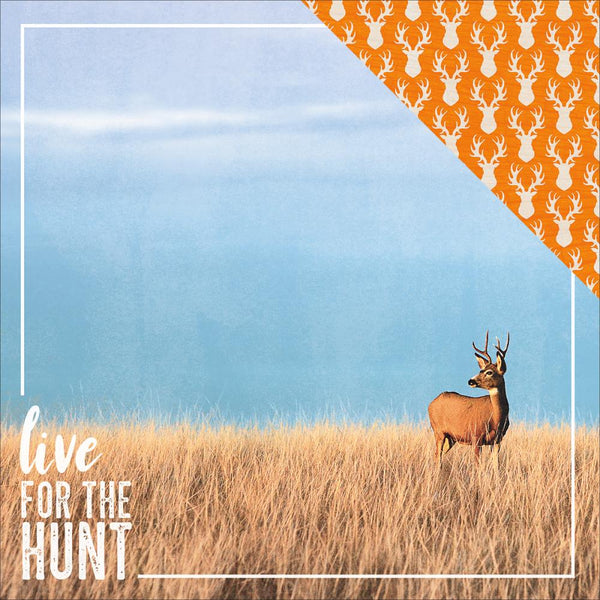 "The Great Outdoors Hunting Double-Sided Cardstock 12""X12"", Live for the Hunt - Scrapbooking Fairies"