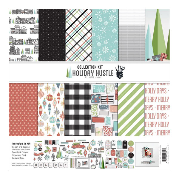 "Holiday Hustle Collection Kit 12""X12"" by Amber Labau - Scrapbooking Fairies"
