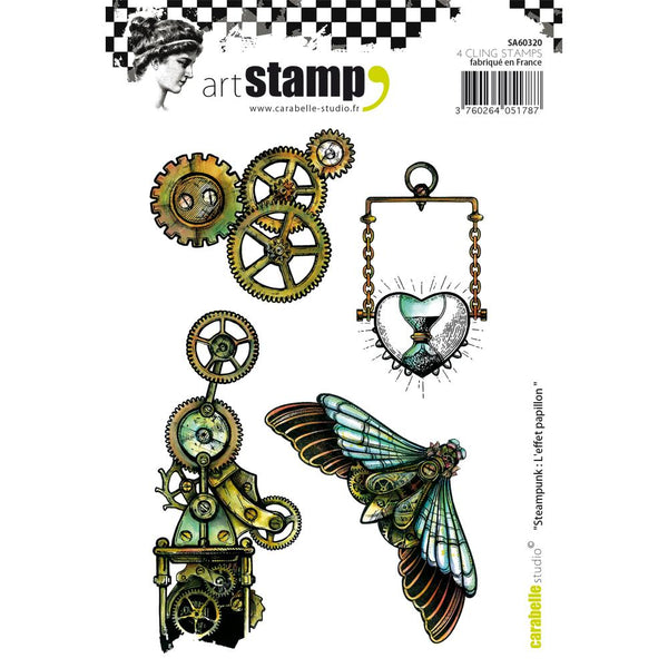Carabelle Studio Cling Stamp A6, Steampunk: Butterfly Effect - Scrapbooking Fairies