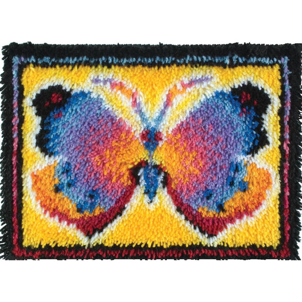 "Caron Wonderart Latch Hook Kit 15""X20"", Butterfly Fantasy"