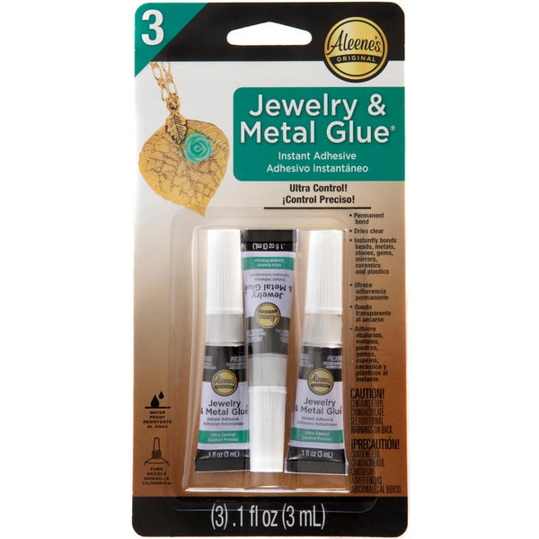 Aleene's Jewelry & Metal Glue 3/Pkg, 0.1oz (3ml)