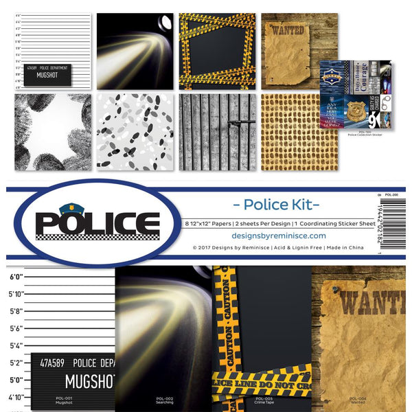 "Reminisce Collection Kit 12""X12"", Police"