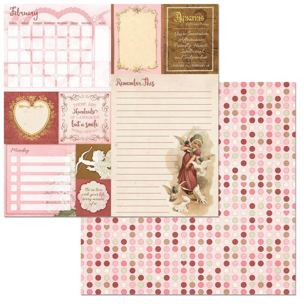 "BoBunny, On This Day Double-Sided Cardstock 12""X12"", February - Scrapbooking Fairies"
