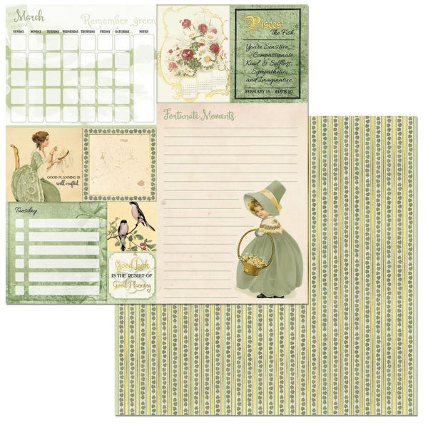 "BoBunny, On This Day Double-Sided Cardstock 12""X12"", March - Scrapbooking Fairies"