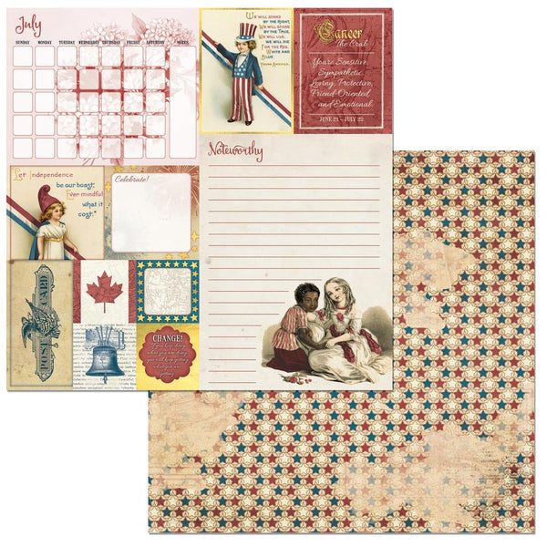 "BoBunny, On This Day Double-Sided Cardstock 12""X12"", July - Scrapbooking Fairies"