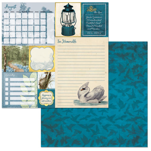 "BoBunny, On This Day Double-Sided Cardstock 12""X12"", August - Scrapbooking Fairies"