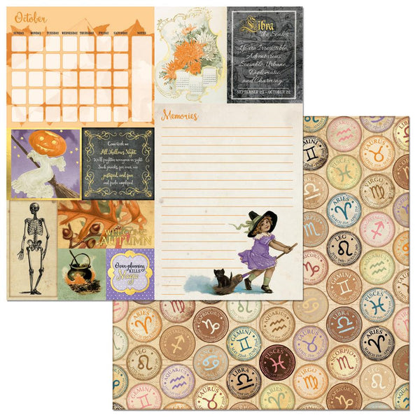 "BoBunny, On This Day Double-Sided Cardstock 12""X12"", October - Scrapbooking Fairies"