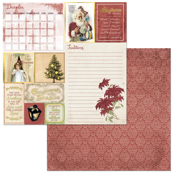 "BoBunny, On This Day Double-Sided Cardstock 12""X12"", December - Scrapbooking Fairies"