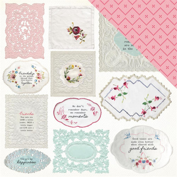 "Kaisercraft, Miss Betty Double-Sided Cardstock 12""X12"", Handkerchief"
