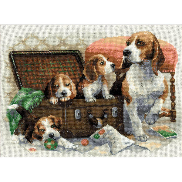 Riolis, Canine Family Counted Cross Stitch Kit. Beagles