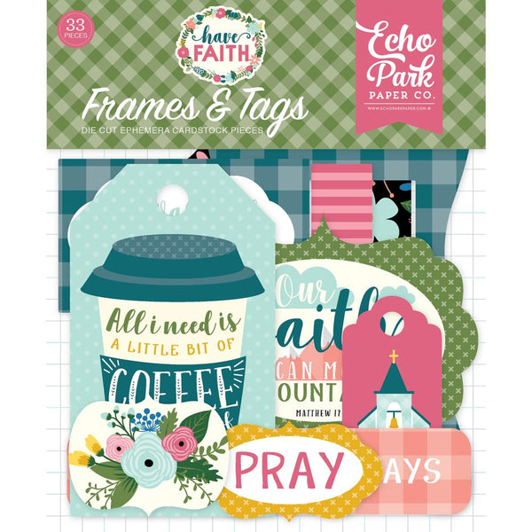 Have Faith Cardstock Die-Cuts 33/Pkg, Frames & Tags