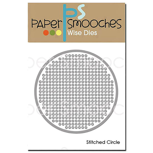 Paper Smooches Dies, Stitched Circle