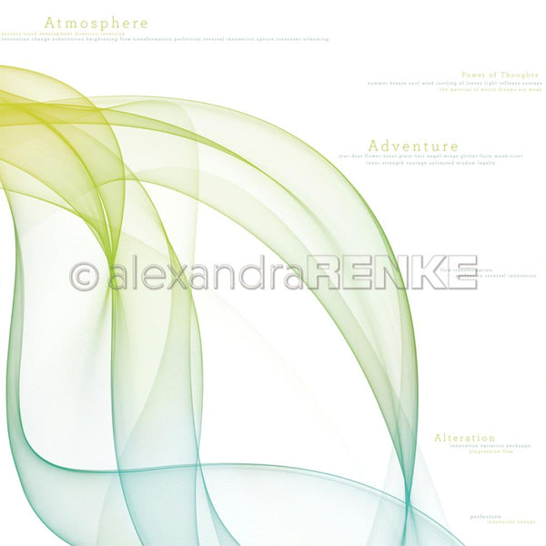 "Alexandra Renke Color Waves International Paper/Cardstock 12""X12"", Green/Blue"