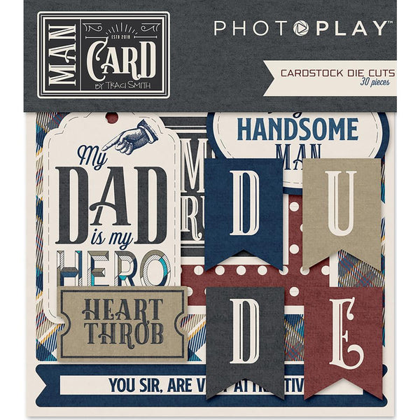 Man Card Cardstock Die-Cuts