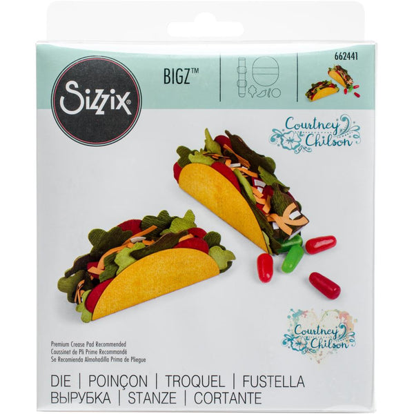 Sizzix Bigz Die By Courtney Chilston, Mini Taco Box