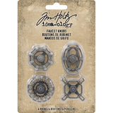 Idea-Ology Metal Faucet Knobs 4/Pkg - Scrapbooking Fairies