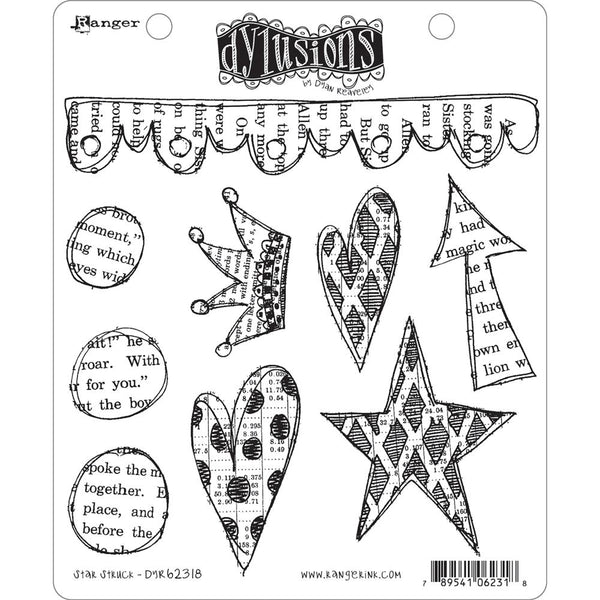 "Ranger, Dyan Reaveley's Dylusions Cling Stamp Collections 8.5""X7"", Star Struck"
