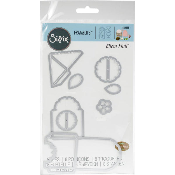 Sizzix Framelits Dies By Eileen Hull 8/Pkg, Bookmark, Tag & Pocket