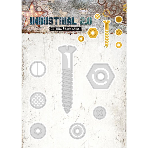 "Studio Light Industrial 2.0 4.5""X8"" Cutting & Embossing Die, Nuts & Bolt"