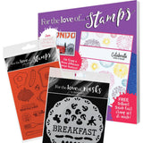 Hunkydory For The Love Of Stamps Magazine - Issue 8, with Stencils and Stamps