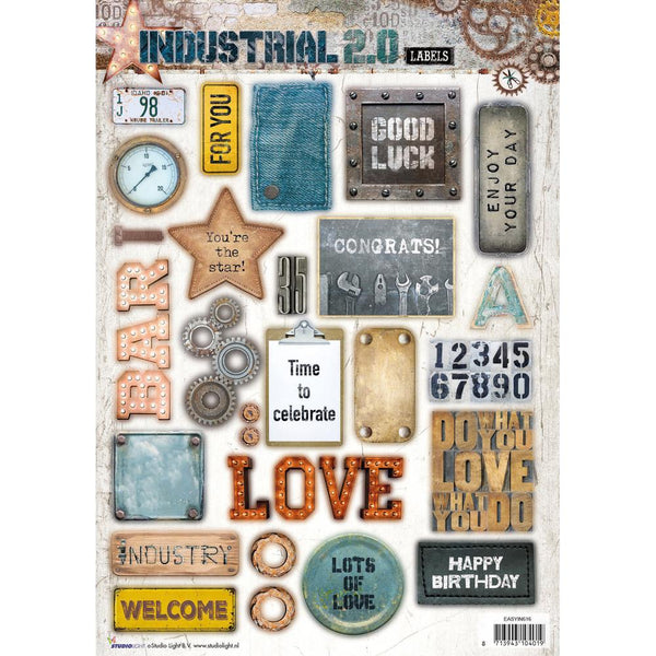 Studio Light Industrial 2.0 Easy 3D Punched Sheet A4 (IN616)