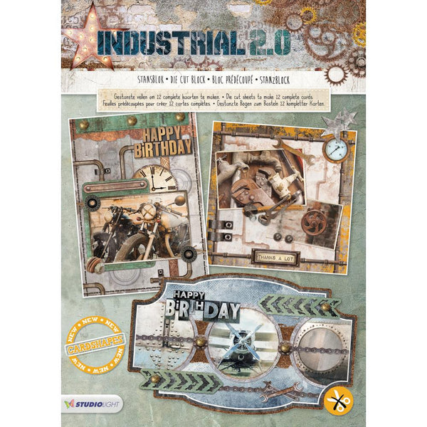 Studio Light Industrial 2.0 Die-Cut Card Toppers 12/Pkg