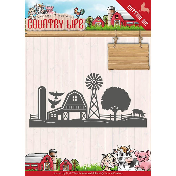 Find It Trading Yvonne Creations Country Life Die, Farm Border