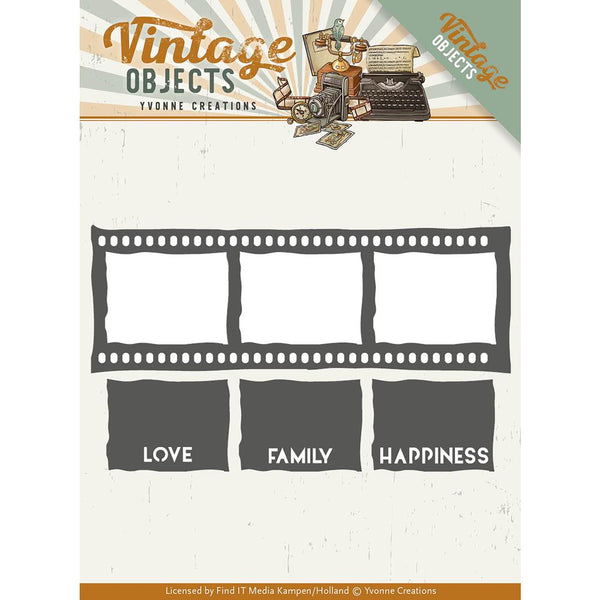 Find It Trading Yvonne Creations Vintage Objects Die, Film Strip
