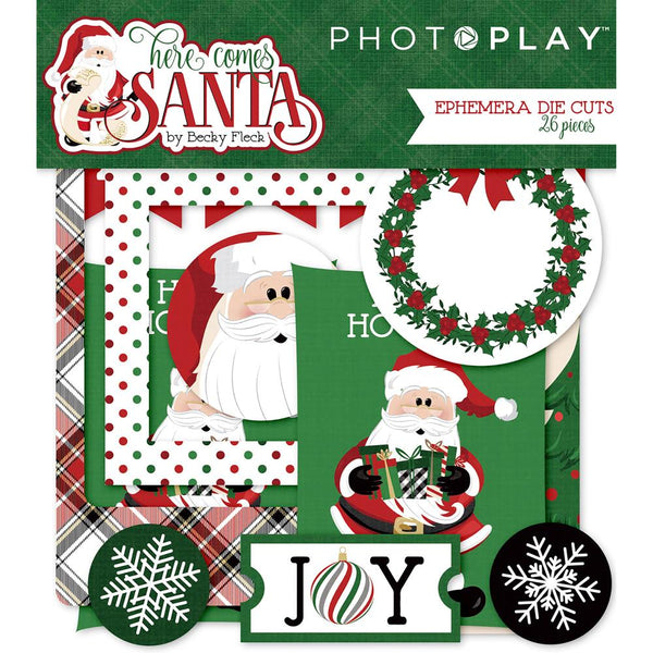 PhotoPlay, Here Comes Santa Ephemera Die-Cuts 26/Pkg