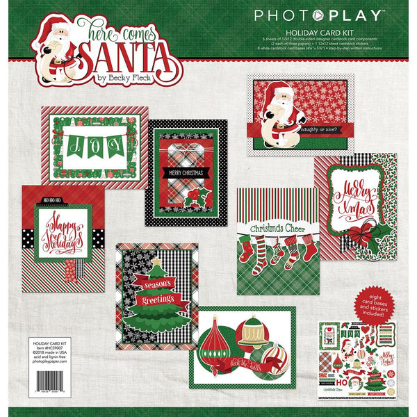 Photo Play Collection Card Kit, Here Comes Santa