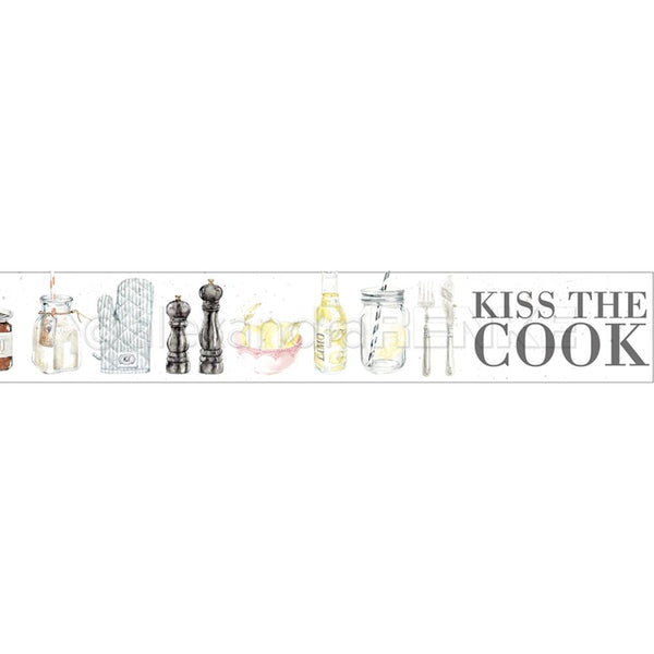 Alexandra Renke Washi Tape 30mmX10m, Kiss The Cook, Cooking
