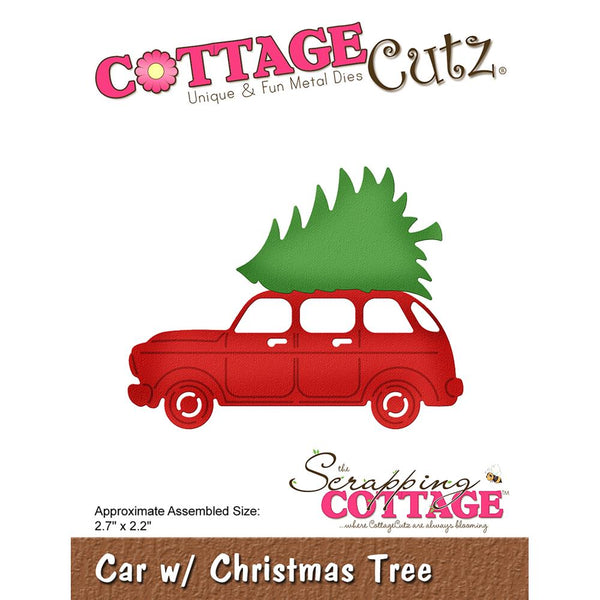 "CottageCutz Elites Die, Car with Christmas Tree 2.7""X2.2"""