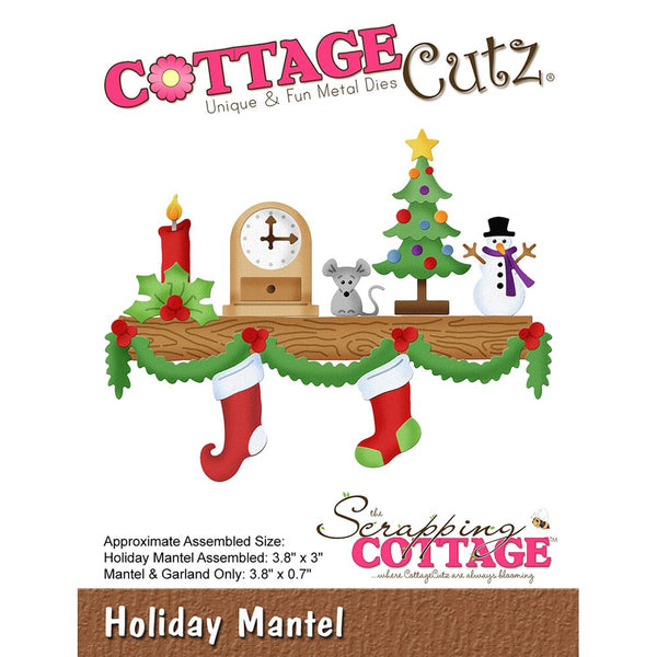 "CottageCutz Die, Holiday Mantel .7"" To 3.8"""