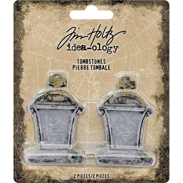 "Advantus - Tim Holtz, Idea-Ology Mini Tombstones 2""X1.25"" 2/Pkg"