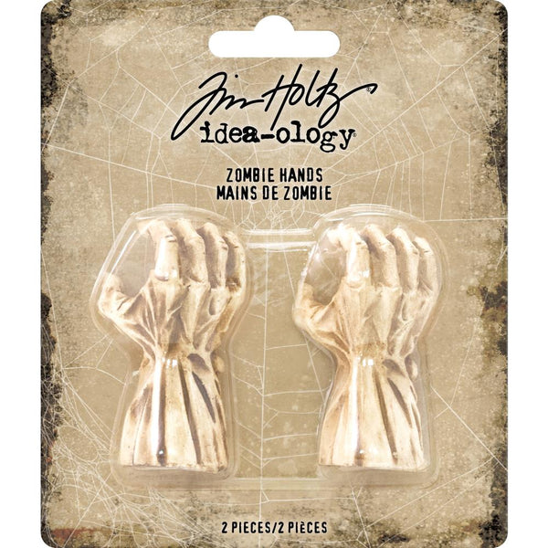 "Advantus - Tim Holtz, Idea-Ology Mini Zombie Hands 2""X.75"" 2/Pkg"