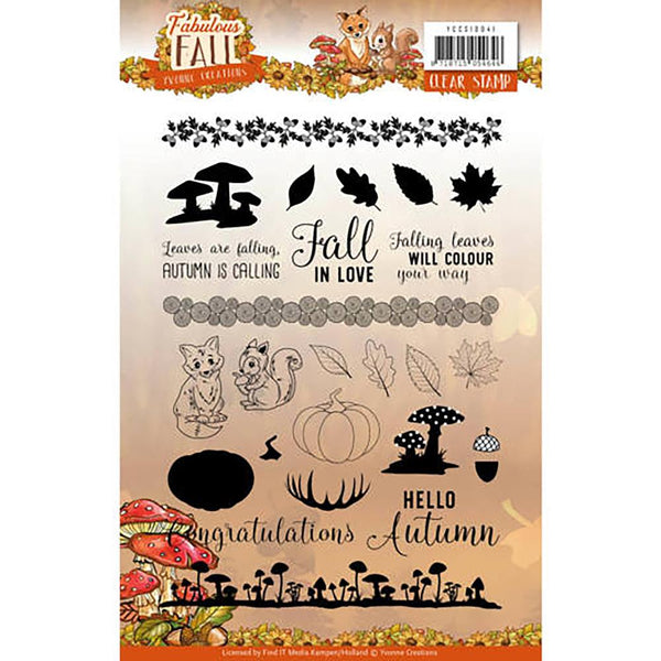Find It Trading Yvonne Creations Clear Stamps, Fabulous Fall