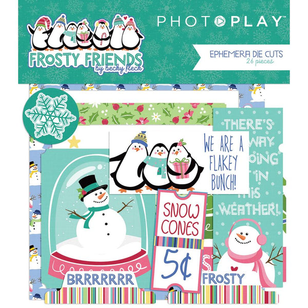 Photo Play, Frosty Friends Ephemera Cardstock Die-Cuts 26/Pkg