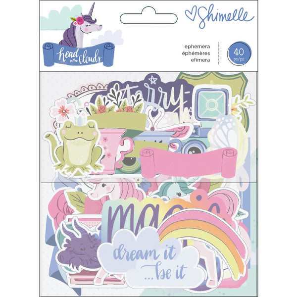 Shimelle Head In The Clouds, Iridescent Foil, Ephemera Cardstock Die-Cuts 40/P\pcs