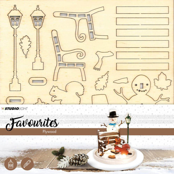 Studio Light Plywood Favorites Scenery, Snowman
