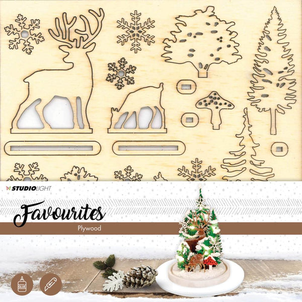 Studio Light Plywood Favorites Scenery, Christmas Tree