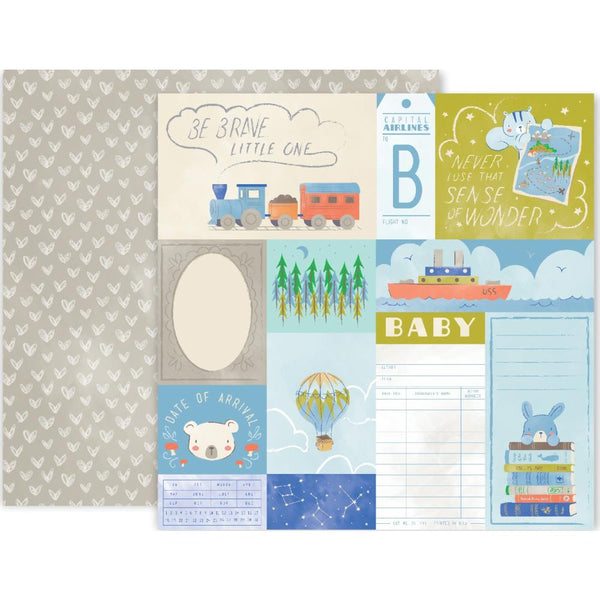 "Little Adventurer Double-Sided Cardstock 12""X12"", #8"