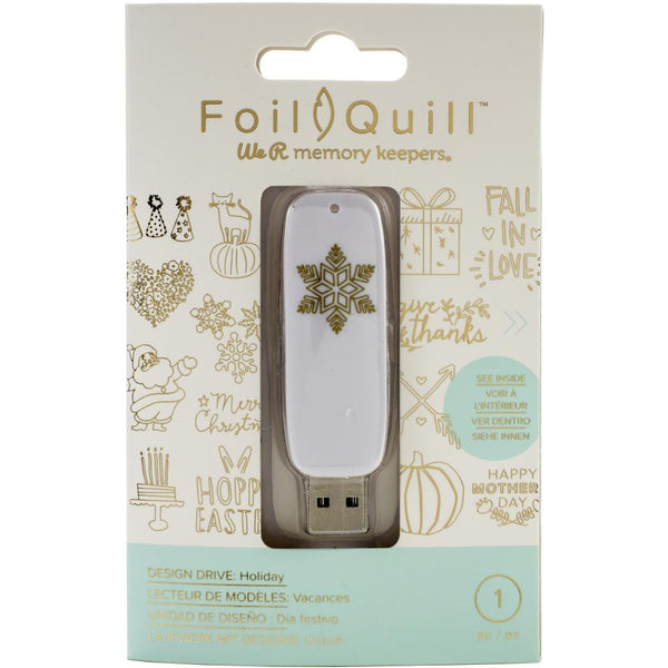 American Crafts, We R Memory Keepers, Foil Quill USB Artwork Drive, Holiday