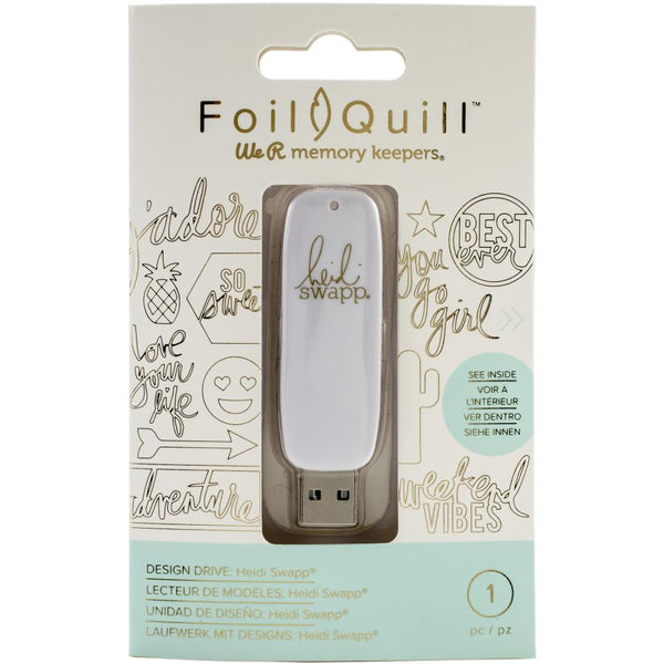 American Crafts, We R Memory Keepers, Foil Quill USB Artwork Drive, Heidi Swapp