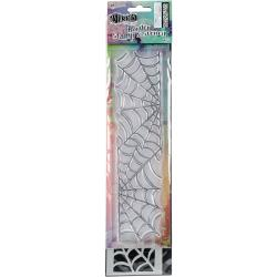 "Dyan Reaveley's Dylusions Clear Stamp & Stencil Set 9"", Cobweb"
