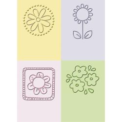 "Cuttlebug, 2""X2.75"" Embossing Folder Set, Flowers"